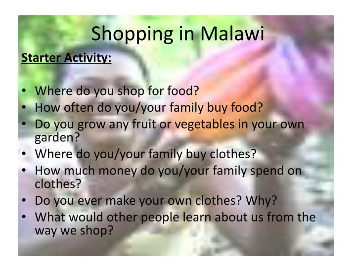 Shopping in malawi