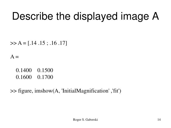 Describe the displayed image A