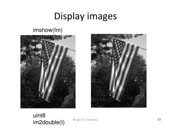 Display images