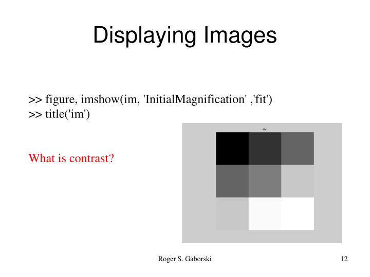 Displaying Images