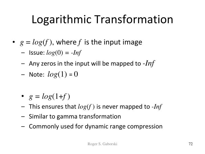 Logarithmic Transformation