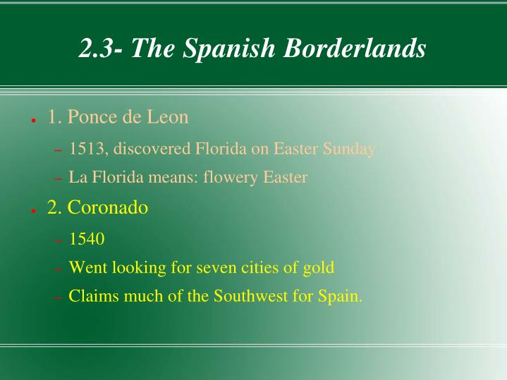 2.3- The Spanish Borderlands