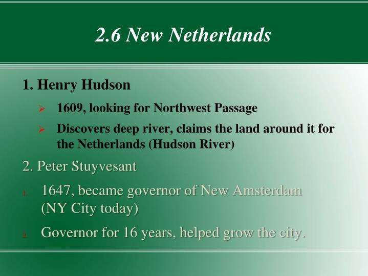 2.6 New Netherlands