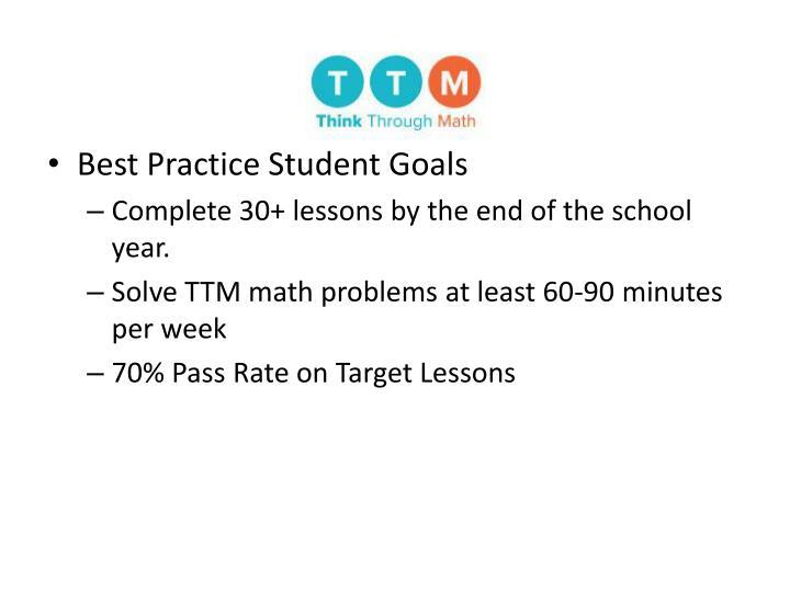 Best Practice Student Goals