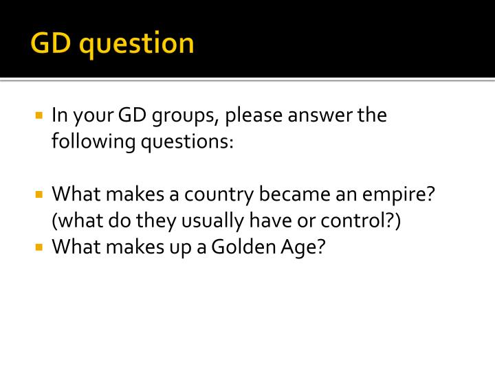 GD question