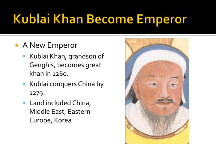 Kublai Khan Become Emperor
