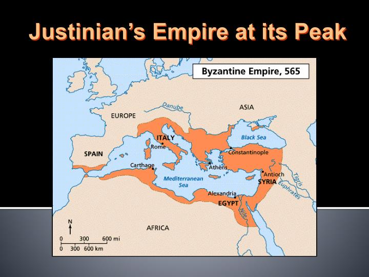 Justinian's Empire at its Peak