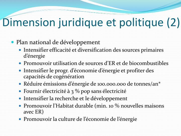 Dimension juridique et politique (2)