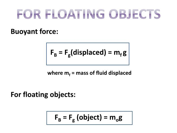 For Floating Objects