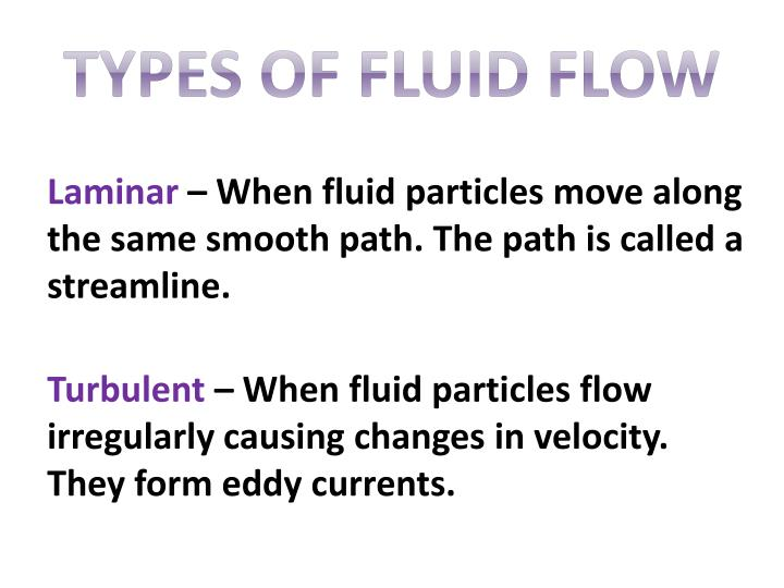 Types of Fluid Flow
