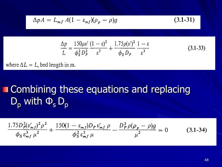 Combining these equations and replacing D