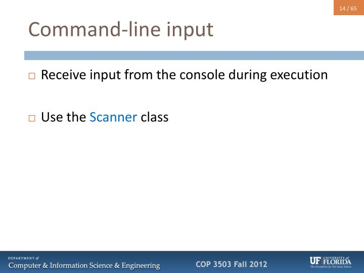 Command-line input