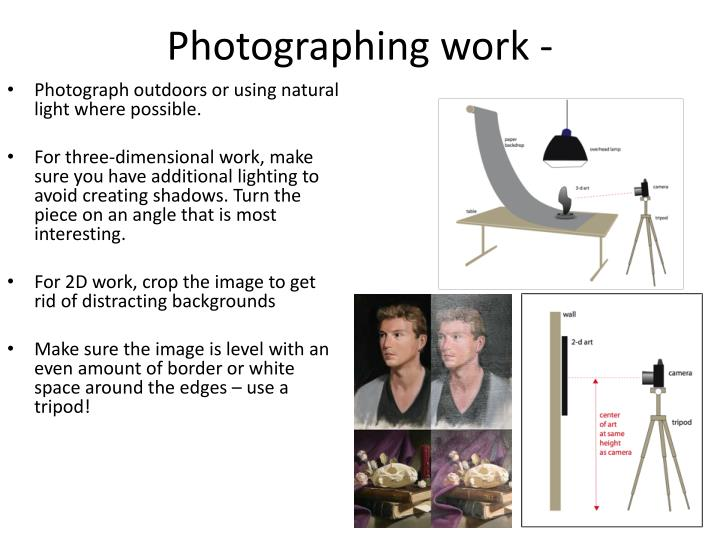 Photographing work -