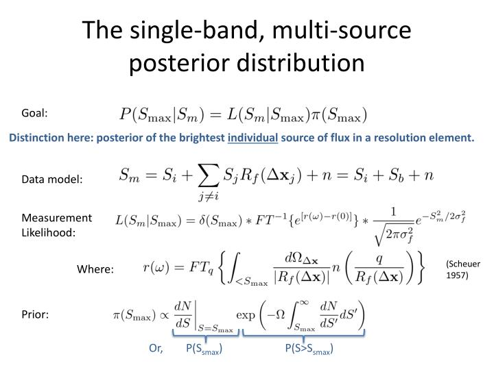 The single-band, multi-source posterior distribution