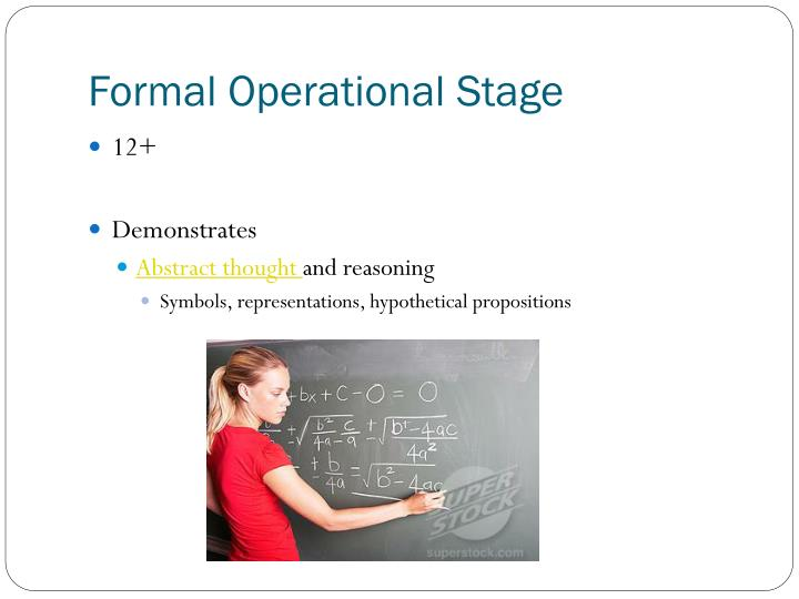 Formal Operational Stage
