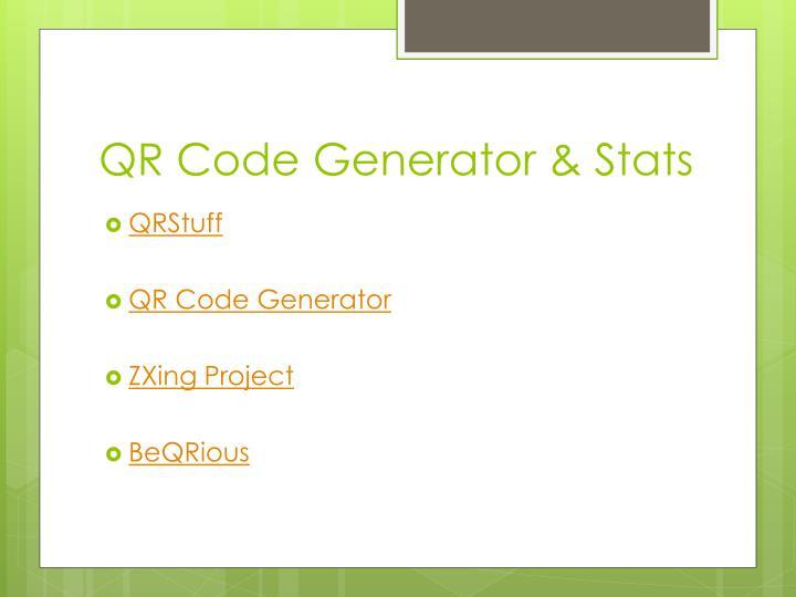 QR Code Generator & Stats