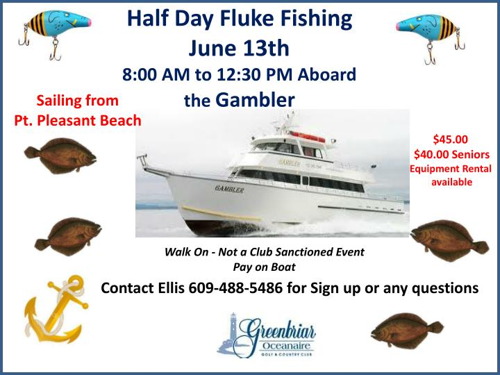 Half Day Fluke Fishing June 13th