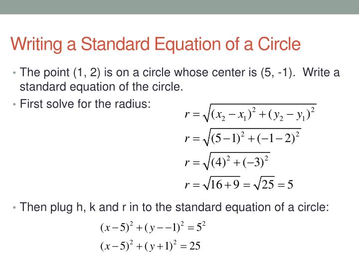 16 Equations of Circles - PowerPoint PPT Presentation