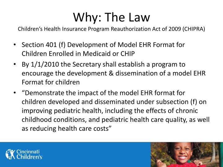 Why the law children s health insurance program reauthorization act of 2009 chipra