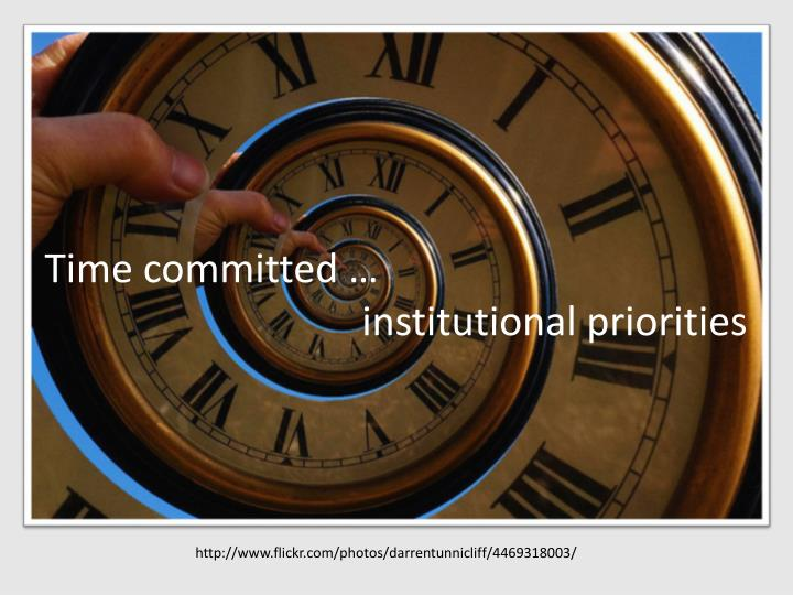 Time committed …