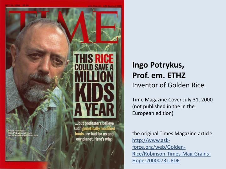 Ingo Potrykus,
