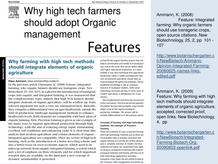 Why high tech farmers