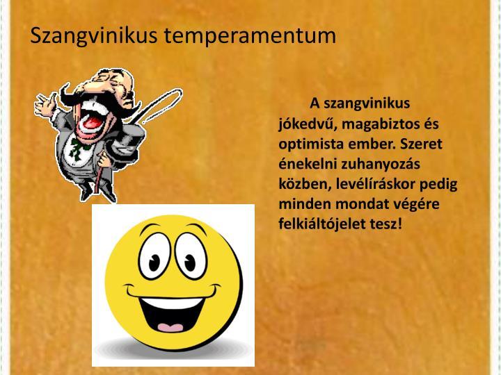 Szangvinikus temperamentum