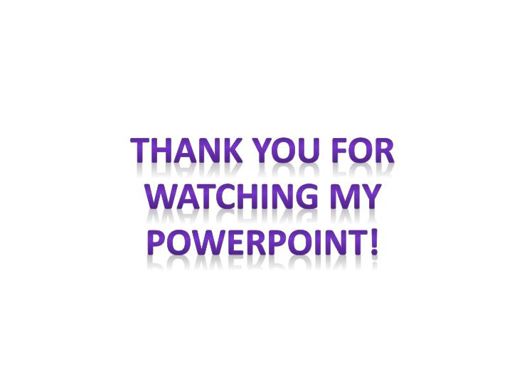 Thank you for watching my