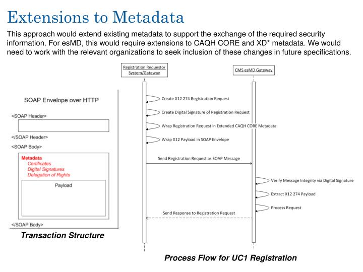 Extensions to Metadata