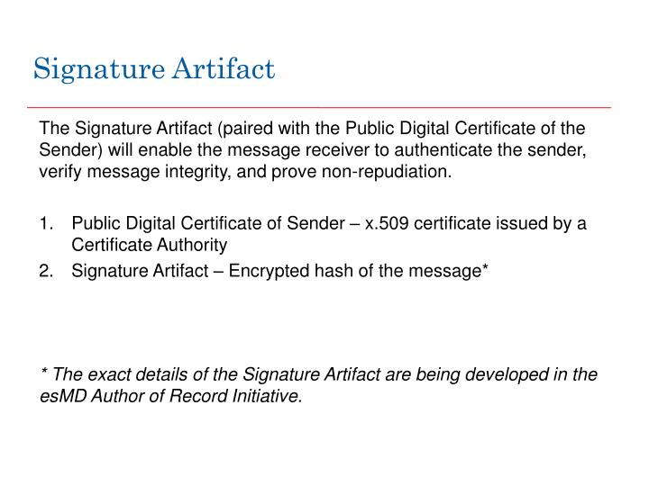Signature Artifact