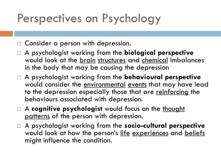 Perspectives on Psychology