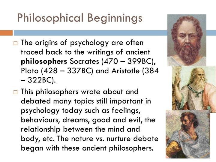 Philosophical Beginnings