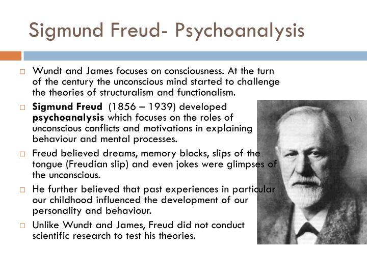 Sigmund Freud- Psychoanalysis