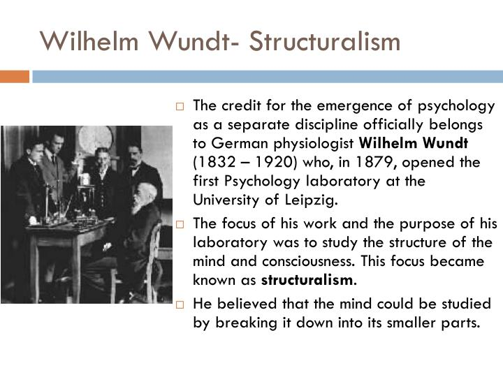 Wilhelm Wundt- Structuralism