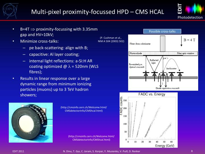 Multi-pixel proximity-focussed HPD – CMS HCAL