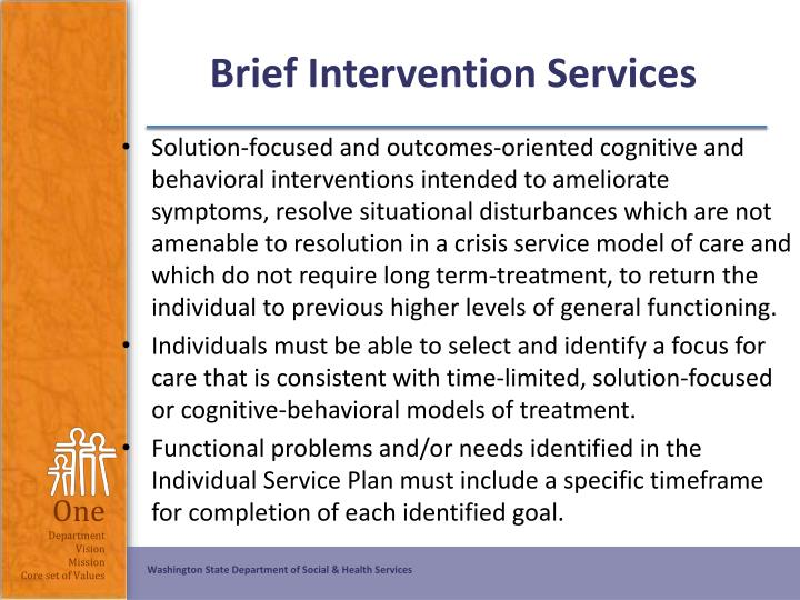 Brief Intervention Services