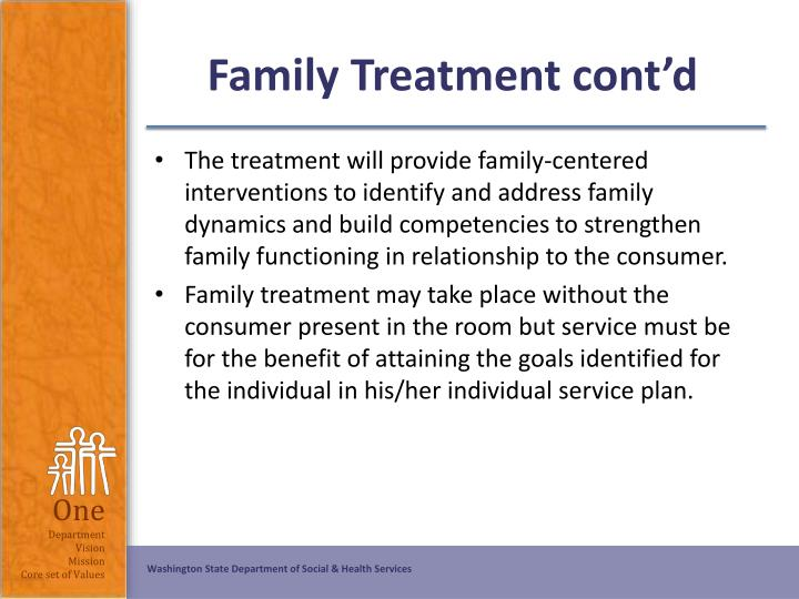 Family Treatment cont'd