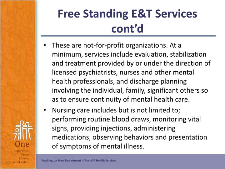 Free Standing E&T