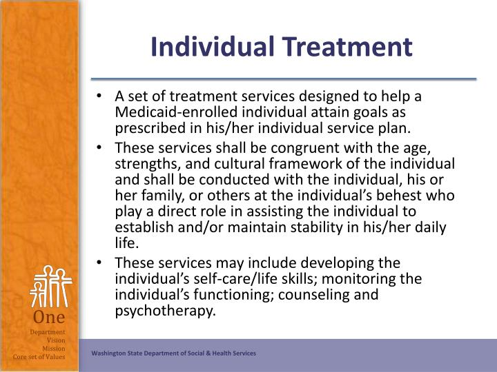 Individual Treatment