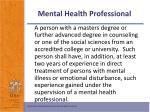 mental health professional