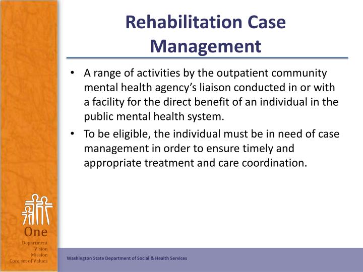 Rehabilitation Case Management