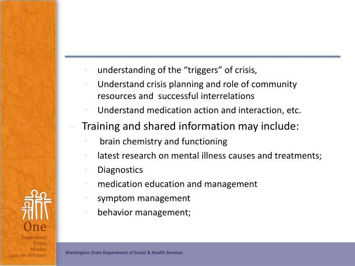 "understanding of the ""triggers"" of crisis,"