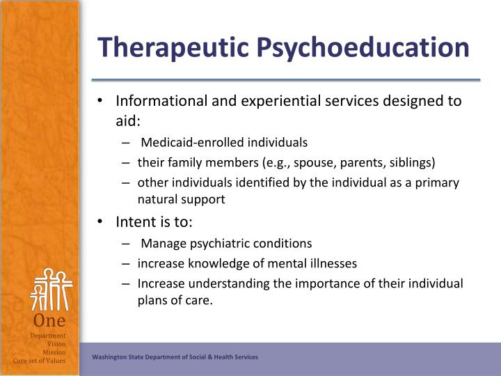 Therapeutic Psychoeducation