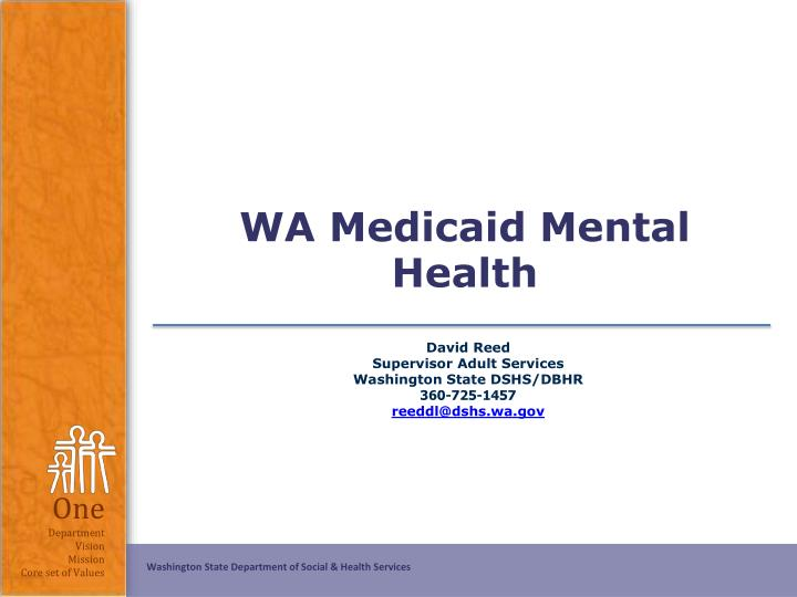 Wa medicaid mental health