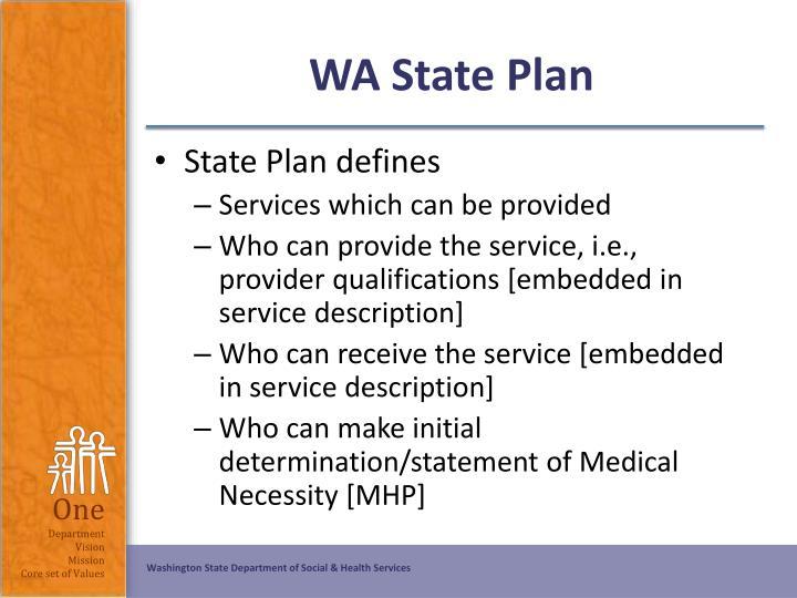 WA State Plan
