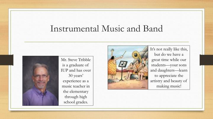 Instrumental Music and Band