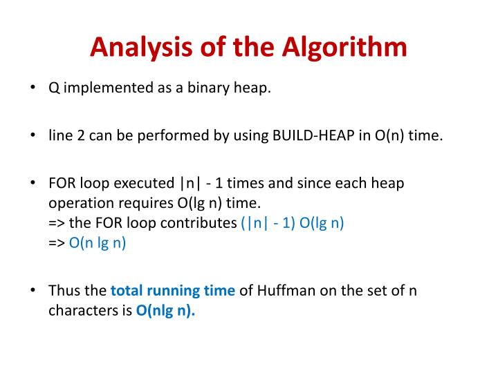 Analysis of the Algorithm