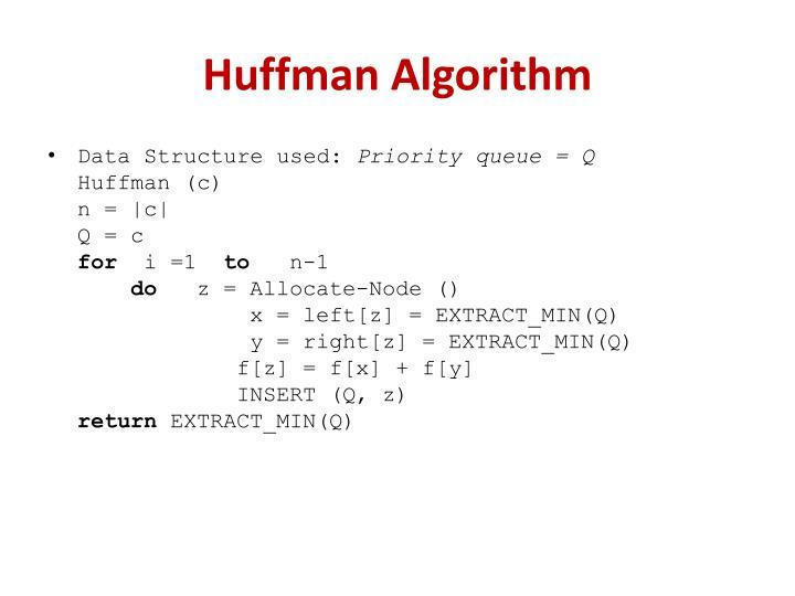 Huffman Algorithm