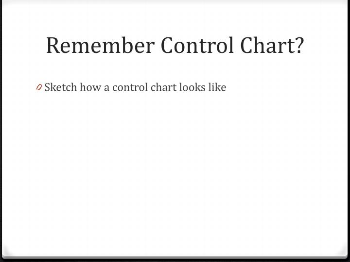 Remember Control Chart?