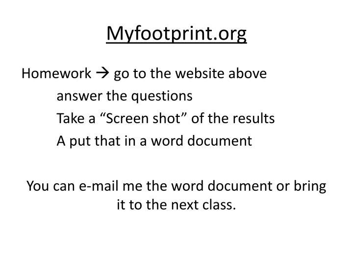 Myfootprint.org